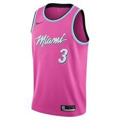 a9219c1ce61 Dwyane Wade Earned City Edition Swingman (Miami Heat) Men's Nike NBA  Connected Jersey Size S (Laser Fuchsia)