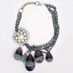 Pearl and Amethyst Hermitage Necklace by Subversive Jewelry $1250 Save 20% off with code LOVELDL