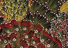 Bush Banana Australian Aboriginal print at HeartSong Quilts.