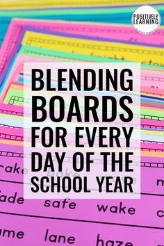 Use blending boards with the whole group, small group, or send home for extra fluency practice. 200 phonics pages provides practice for every day of the school year! Co Teaching, Teaching Special Education, Teaching Reading, Teaching Ideas, Learning Resources, Guided Reading, Kids Education, Phonics Blends, Phonics Rules