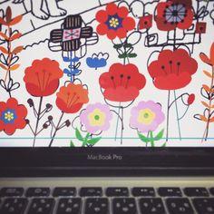 ペンでもイラレでも いろんなカタチで色で 植物はいくら描いてても楽しい(^.^) #ポピー畑 (Ikoma, Nara)
