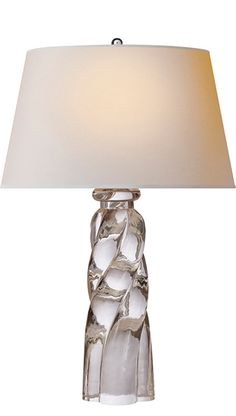 Twisted Crystal Lamp Courtesy of InStyle-Decor.com Beverly Hills Inspiring & supporting Hollywood interior design professionals and fans, sharing beautiful luxe home decor inspirations, trending 1st in Hollywood Repin, Share & Enjoy