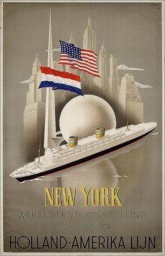 Holland-America Line to New York. 1939