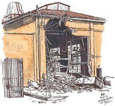 boiler building, under demolition