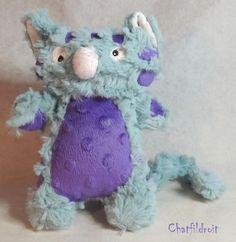 """Peluche chat """"CHAnounours"""" - par Chatfildroit : Jeux, peluches, doudous par chatfildroit"""