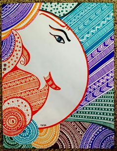 Newest Screen ganpati drawing for kids Style Offer boys and girls twenty pieces of cardstock along with a container associated with colors, then there is a high pro Ganesha Painting, Ganesha Art, Madhubani Painting, Ganesha Drawing, Buddha Painting, Doodle Art Drawing, Mandala Drawing, Art Drawings, Drawing Ideas