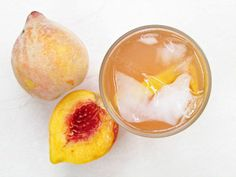 Fresh Peach Lemonade by tesathome: Fill your mouth with the fragrant burst of sweet summer peaches!
