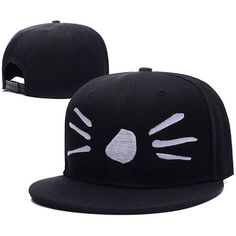 HEJIAXIN Dan and Phil Cat Whiskers Logo Adjustable snapback Embroidery... ($8.99) ❤ liked on Polyvore featuring accessories and hats