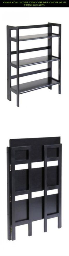 Winsome Wood Stackable Folding 3-Tier Shelf Bookcase Shelves Storage Black 20896 #camera #parts #gadgets #drone #racing #3 #storage #kit #tech #fpv #shelves #shopping #plans #technology #products