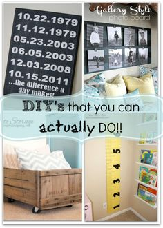 DIY Ideas than you c