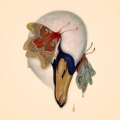 A Nectar of Tears, James Jean Illustrations, Illustration Art, Art Chinois, Art Japonais, Arte Pop, Art Graphique, Wildlife Art, Bird Art, Art Inspo