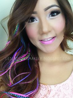 The Feather Outlet brand Hair feathers Feather Hair Extensions, Ombre, Neon, Colorful! - Leslie Loves Makeup!