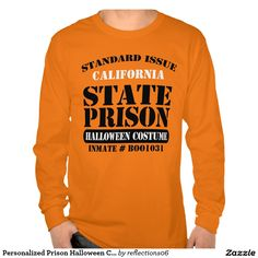 Personalized Prison Halloween Costume T-shirt
