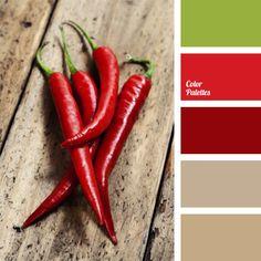 Chili pepper color palette for kitchen