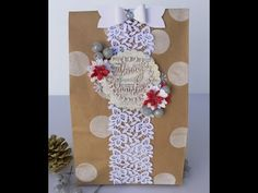 Christmas Gift Bag~Wild Orchid Crafts! - YouTube
