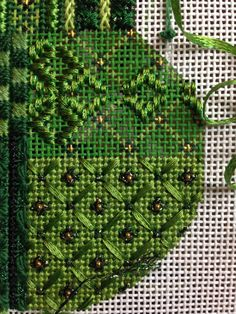 steph's stitching: February 2014 - look at the stitches, ribbon and beads