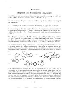 Theory of Computation: Chapter - 5 Regular and Nonregular Languages Solut. Theory Of Computation, Different Programming Languages, Words, Horse
