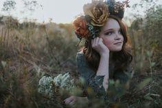 Flower crown  Tween model  Boho photo shoot  Shalon Blackwell Photography