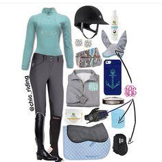 Light blue riding clothes. StyleMyRide.net @SMRequestrian #horses #stylemyride