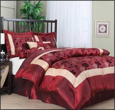 The Nanshing Angela Jacquard Floral Red Comforter Set with 58% OFF DISCOUNT AND FREE SHIPPING Reviews