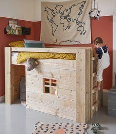 Loft Bed Plans, Bedroom Layouts, Kidsroom, New Room, Bunk Beds, Kids Bedroom, Decorative Boxes, Sweet Home, Room Decor