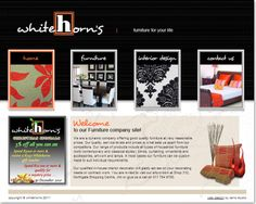 Interior and Exterior website design for White Horns - Furniture for your life. Interior And Exterior, Interior Design, Portfolio Web Design, Furniture Companies, Quality Furniture, Horns, Website, Life, Nest Design