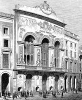 Teatro de Santa Cruz en Barcelona, teatro donde se debuta la primera opera de Rossini en Espana, L'Italiana in Algeri.