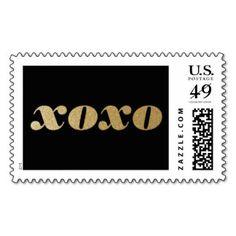XOXO Glitter Typography Stamp