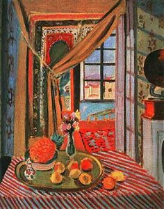Henri Matisse: Interior at Nice - 1924 True For: The Squares Of The Window And Table.