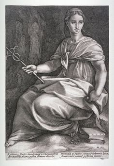 °Polymnia (ou Clio?) (from The Nine Muses) - Hendrick Goltzius - 1592 - @LauChans Art