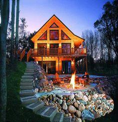 Brick steps & stone patio