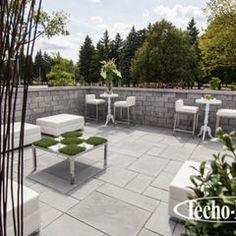 retainer walls by Techo-Bloc