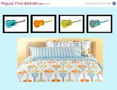 "Guitar Nursery Wall Art or Toddler Room Wall Art 8""x10"" Set of Four Prints. $30.00, via Etsy."
