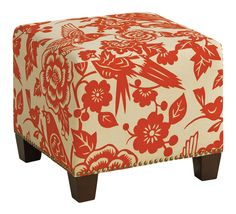 Tangerine Canary McKenzie Upholstered Ottoman $175.99 | worldmarket.com
