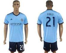 New York City  21 Pirlo Home Soccer Club Jersey David Villa e19ff8ec3