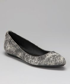 Another great find on #zulily! Black & Off-White Suede Ciela Flat by Calvin Klein Jeans #zulilyfinds