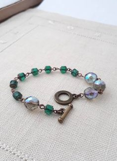 Teal Outfits, Vintage Bracelet, Beaded Bracelets, Etsy Shop, Deep, Trending Outfits, Stylish, Unique Jewelry, Handmade Gifts