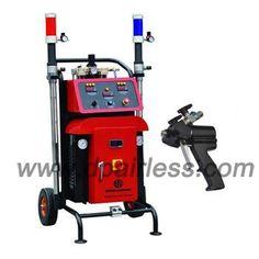 polyurethane foam reactory, polyurethane pu foam sprayer equipment, two component sprayers with heater  www.dpairless.com