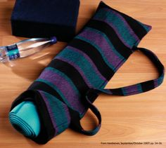 Free pattern in Weaving Today's eBook of woven bag patterns! the idea of weaving my own yoga bag. Coach Clutch, Yoga Mat Bag, Weaving Techniques, Handmade Bags, Bag Making, Fiber Art, Hand Weaving, Projects, Backpacks