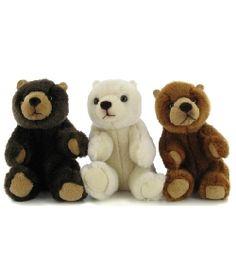 peluches anima Peluche Ours assis mini 11cm #teddy #nounours #doudou