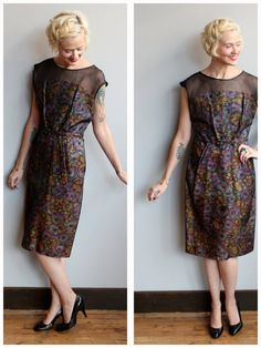 1960s Dress // Colorful Cocktail Dress // vintage 60s dress