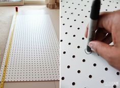 Pegboard for easy measurements