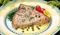 Swordfish with Lemon Caper Sauce Recipe