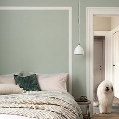 Dulux Easycare Tranquil Dawn Matt Emulsion paint Tester pot - B&Q for all your home and garden supplies and advice on all the latest DIY trends Bedroom Green, Bedroom Colors, Bedroom Wall, Bedroom Decor, Bedroom Wardrobe, Bedroom Ideas, Interior Walls, Interior Design, New Room