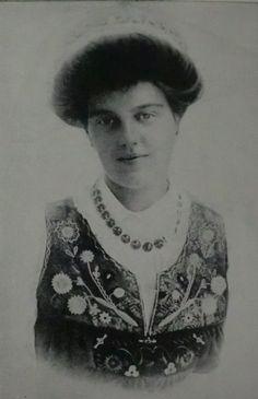 Grand Duchess Maria Pavlovna in Swedish traditional costume.