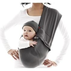 8dd77bc5eb9 Picture of (Wallaboo) Baby Carrier Cotton Sling (Grey Moonless Night)