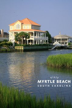 Travel tip: book your waterfront beach house early for the best rates and availability. Myrtle Beach has a great selection of beautiful beach houses that your entire family will love - Vacation Places, Vacation Destinations, Vacation Trips, Dream Vacations, Vacation Spots, Places To Travel, Vacation Rentals, Vacation Ideas, Beautiful Beach Houses