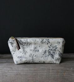 Flora Oblong Linen Pouch by Hatchet Made on Scoutmob Shoppe