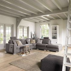 I want a grey couch. Condo Living, Interior, Home, Living Dining Room, House Interior, Nordic Living Room, Interior Design, Living Decor, French House