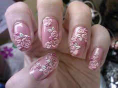 3D nail art..so cute
